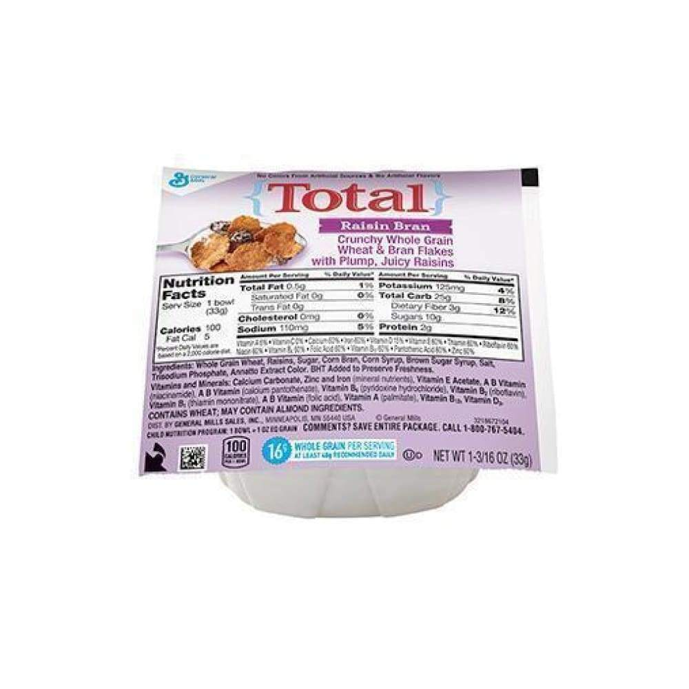 Total(R) Raisin Bran, Bowlpak 1.19 Oz - www.inmatecarepackage.net