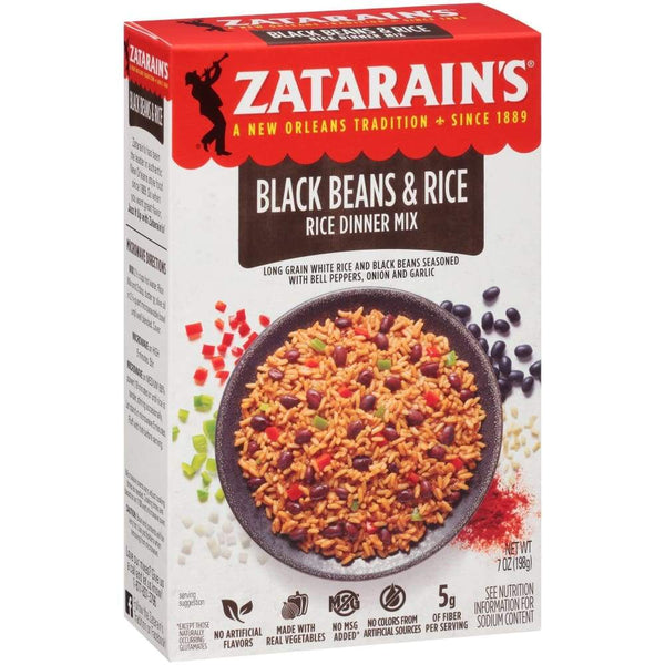 Zatarain's Black Bean & Rice - www.inmatecarepackage.net