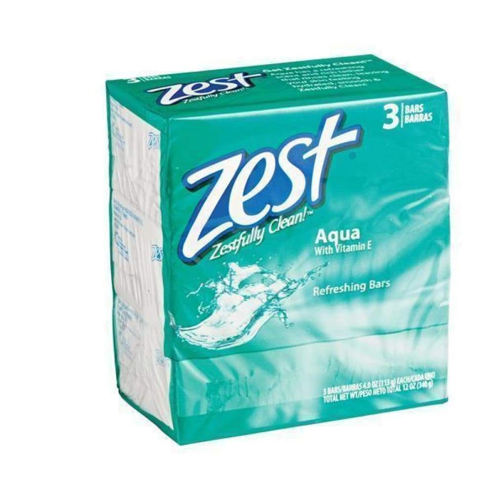 Zest Bar Soap Aqua - 3 Bars - www.inmatecarepackage.net