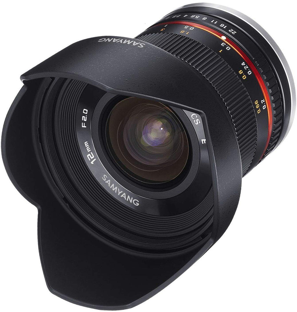 SAMYANG 12MM F2.0 NCS CS BLACK - FUJI X MOUNT