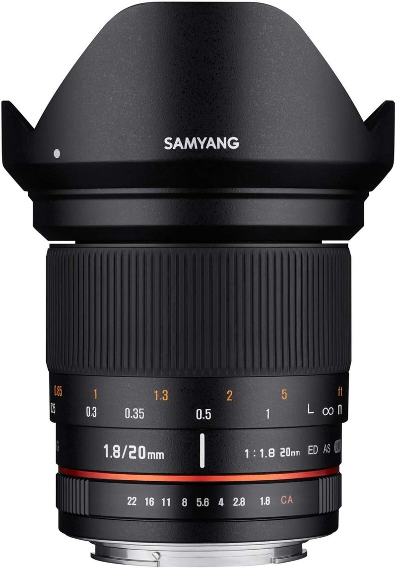 SAMYANG 20MM F1.8 ED AS UMC - CANON EF MOUNT