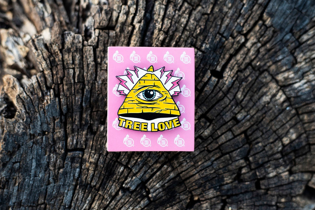 Tree Love All Seeing Eye Pin