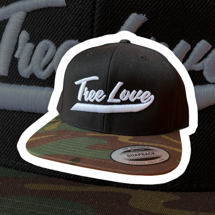 Tree Love Camo Banner Hat