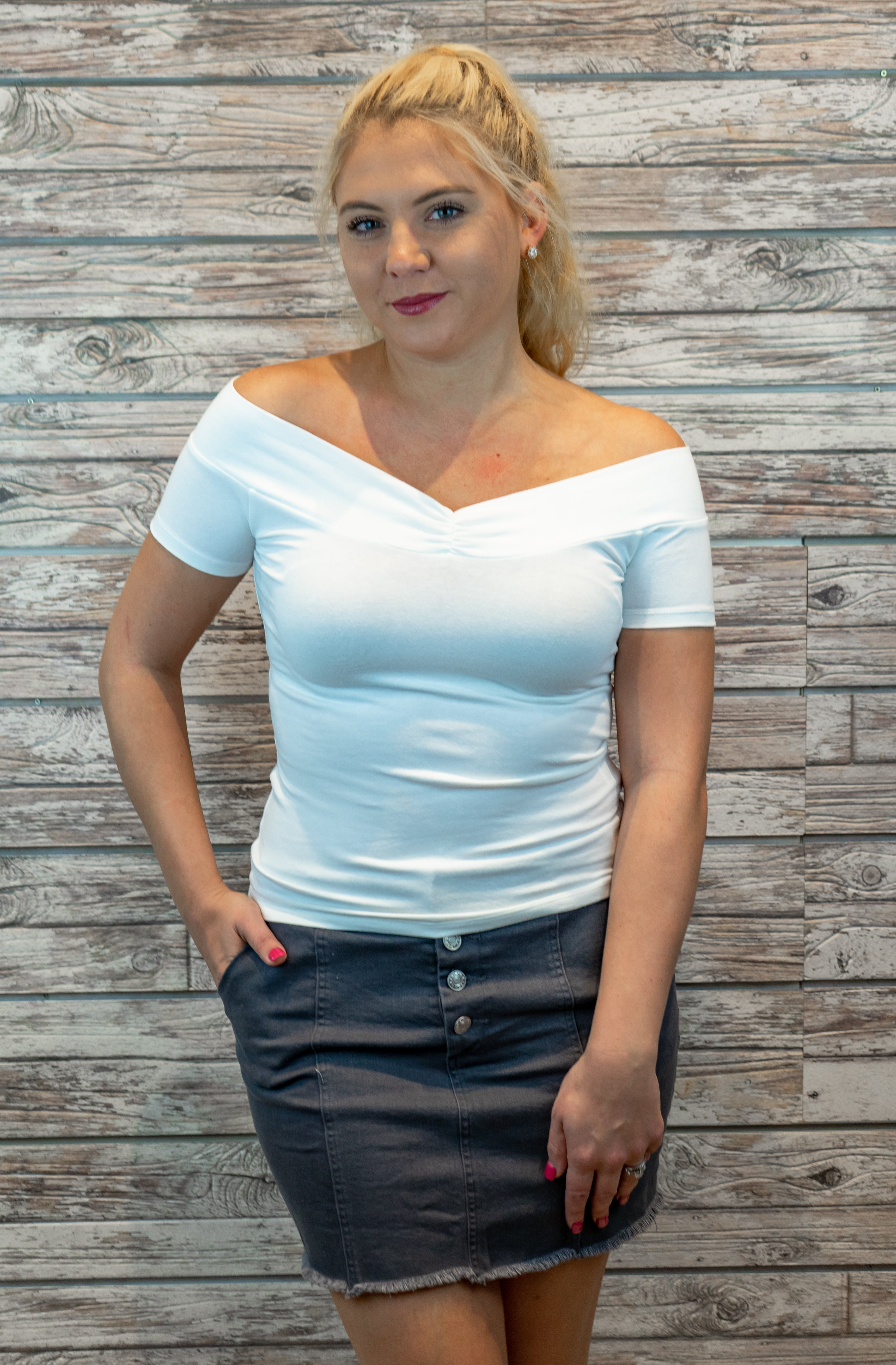 Simple Princess Top in White