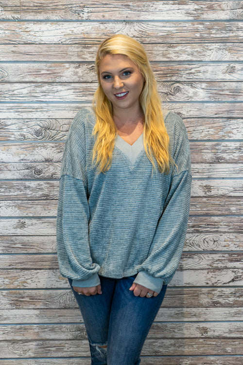 V-Neck Uber Soft Sweater Top