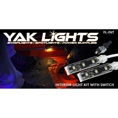 Yak Lights INTERIOR KIT WITH WATERPROOF SWITCH - ULTRA LOW PROFILE WATERPROOF LED LIGHTS