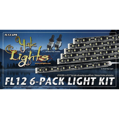 Yak Lights FL12 Mini LED Light Strips 6-Pack (QTY 6)