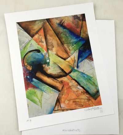 Limited Edition 2011 Air Chair Bboy Abstracts Painting - High Quality Digital print