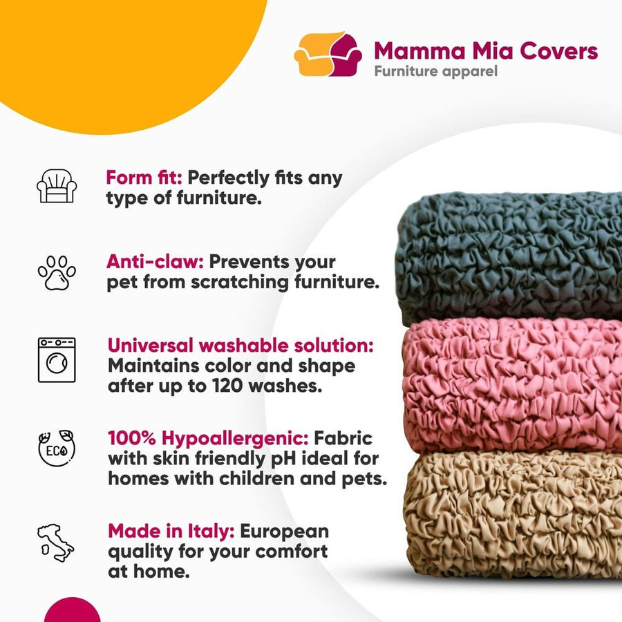 Loveseat 2 Seater Slipcover, Velvet  Collection - Mamma Mia Covers LLC