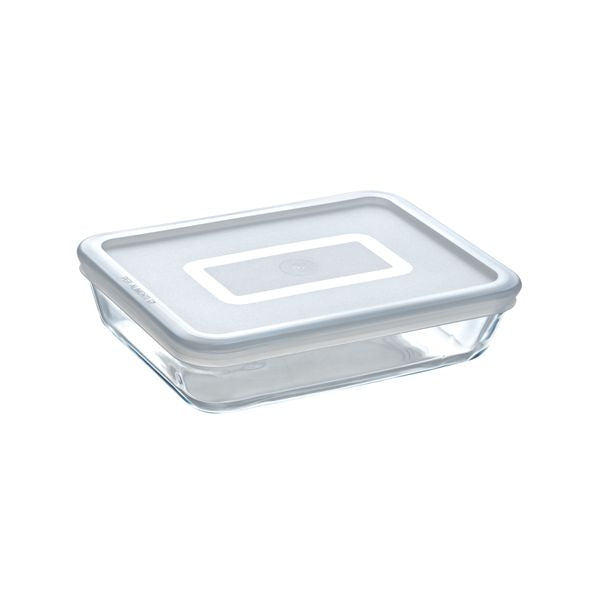 Cook & Freeze Recipiente rectangular ultrarresistente con tapa de plástico