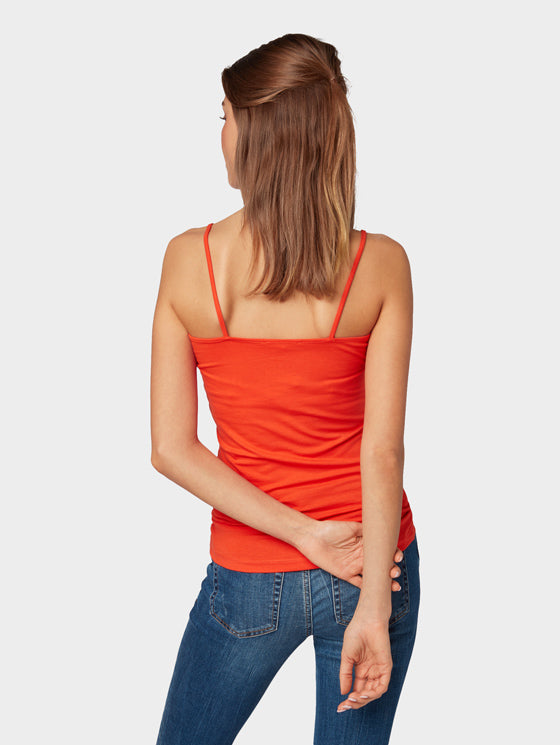 CAMISOLE BASIQUE ROUGE, TOM TAILOR