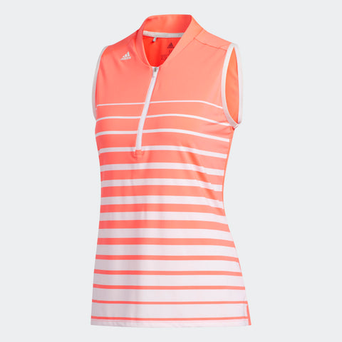 ADIDAS // POLO POUR FEMME, ENGINEERED STRIPE