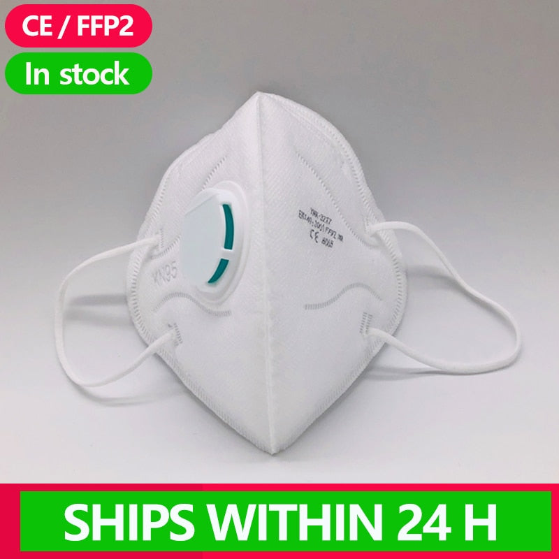[1~25PCS] KN95 Disposable Face N95 Mask Anti protection Mouth Cover Facial Dust Pm2.5 FFP2 FFP3 Respirator N 95 Masks flu masks