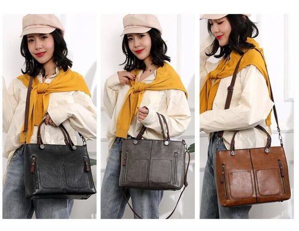 WEYKING 2019 Vintage Women Shoulder Bag Female Causal Totes for Daily Shopping All-Purpose High Quality Dames Handbag - Active Noise Cancelling Headphones Bluetooth Headphones with Mic Deep Bass Wireless Headphones Over Ear, Comfortable Cortex Earpads, 20H Playtime for Travel Work TV PC Cellphone