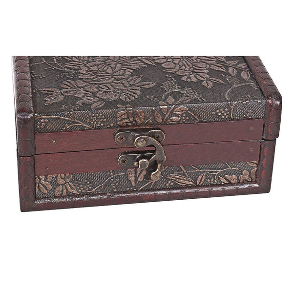 1Pc Antique Treasure Chest Storage Box Gift Cards Collection Boxes Makeup Organizer Box Jewelry Treasure Chest Case Ornaments