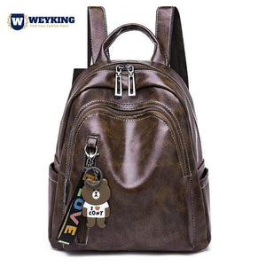 WEYKING 2019 Brand New Pu Backpack Women Leather Luxury Backpack Women Fashion Backpack Satchel School Bag - Active Noise Cancelling Headphones Bluetooth Headphones with Mic Deep Bass Wireless Headphones Over Ear, Comfortable Cortex Earpads, 20H Playtime for Travel Work TV PC Cellphone