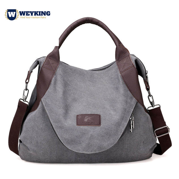WEYKING 2019 Large Pocket Casual Tote Women Handbag Shoulder Handbags Canvas Leather Capacity Bags For Women - Active Noise Cancelling Headphones Bluetooth Headphones with Mic Deep Bass Wireless Headphones Over Ear, Comfortable Cortex Earpads, 20H Playtime for Travel Work TV PC Cellphone