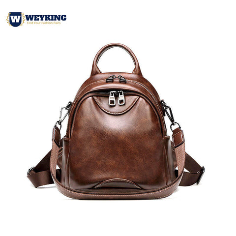 WEYKING 2019 Simple Style Female Backpack Classic Large Capacity Shoulder Bag Soft Leather Backpack School Bag Travel Bag - Active Noise Cancelling Headphones Bluetooth Headphones with Mic Deep Bass Wireless Headphones Over Ear, Comfortable Cortex Earpads, 20H Playtime for Travel Work TV PC Cellphone