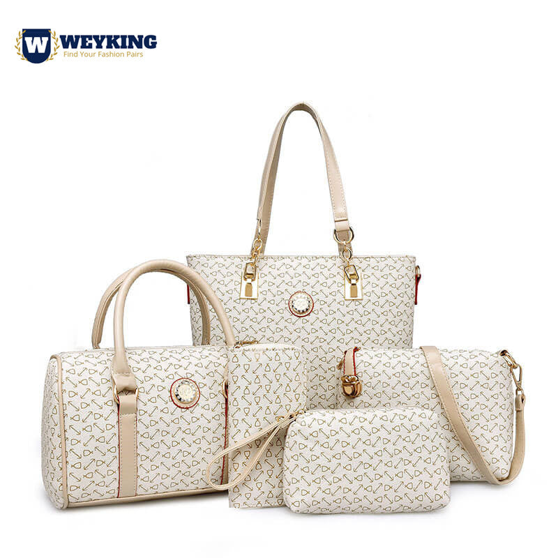 155fc1374791 WEYKING 5 Pcs Sets Designer Shoulder Bag Pu Leather Bag Ladies Handbags  Women High Quality 2019 Famous Tote