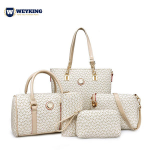 WEYKING 5 Pcs Sets Designer Shoulder Bag Pu Leather Bag Ladies Handbags Women High Quality 2019 Famous Tote - Active Noise Cancelling Headphones Bluetooth Headphones with Mic Deep Bass Wireless Headphones Over Ear, Comfortable Cortex Earpads, 20H Playtime for Travel Work TV PC Cellphone