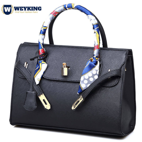 WEYKING-Bag-Female-With-Silk-Scarf-Women-2019-Fashion-Pu-Leather-Litchi-Portable-Big-Bag-Ladies-Shoulder-Bag-Female-Handbag - Active Noise Cancelling Headphones Bluetooth Headphones with Mic Deep Bass Wireless Headphones Over Ear, Comfortable Cortex Earpads, 20H Playtime for Travel Work TV PC Cellphone