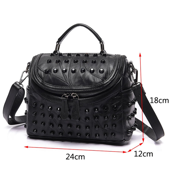 Luxury Women Genuine Leather Bag Sheepskin Messenger Bags Handbags Famous Brands Designer Female Handbag Shoulder Bag Sac