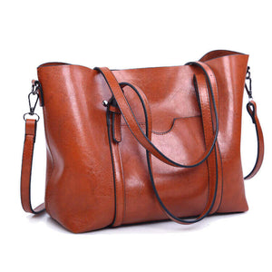 03ed42f30c17 WEYKING Women Bag Oil Wax Women's Leather Handbags Luxury Lady Hand Ba