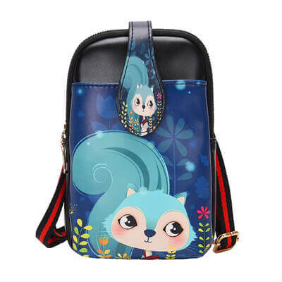 WEYKING Mobile Phone Bag Female 2019 New Cartoon Printing Female Bag Mini Slung Bag Small Purse Girl Fashion Shoulder Bag - Active Noise Cancelling Headphones Bluetooth Headphones with Mic Deep Bass Wireless Headphones Over Ear, Comfortable Cortex Earpads, 20H Playtime for Travel Work TV PC Cellphone