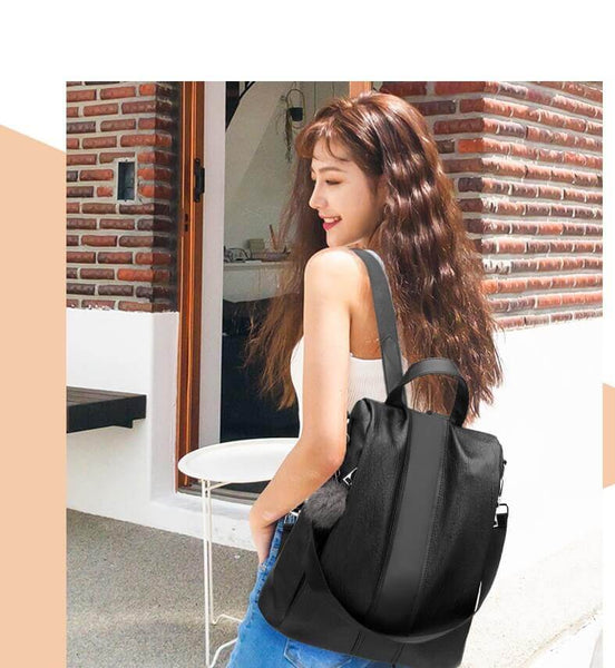 WEYKING Women Bag Vintage Backpack Fashion All-match multifunctional Patchwork Female Bag Soft Leather School Bag - Active Noise Cancelling Headphones Bluetooth Headphones with Mic Deep Bass Wireless Headphones Over Ear, Comfortable Cortex Earpads, 20H Playtime for Travel Work TV PC Cellphone