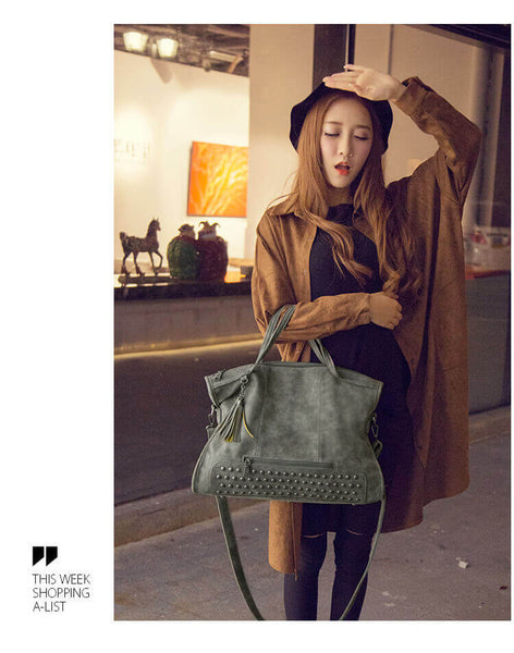 WEYKING 2019 Ladies Tassel Shoulder Bag Women Scrub Leather Design Crossbody Bag Female Small Flap Handbags - Active Noise Cancelling Headphones Bluetooth Headphones with Mic Deep Bass Wireless Headphones Over Ear, Comfortable Cortex Earpads, 20H Playtime for Travel Work TV PC Cellphone