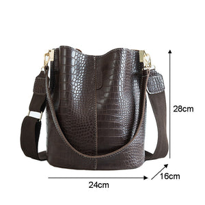 Leather tote,Crocodile Crossbody Bag For Women Shoulder Bag