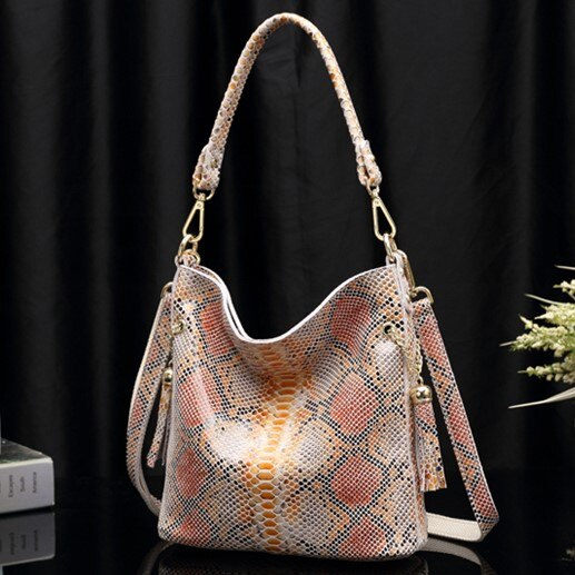 Snake Skin Hand Bags Luxury Designer Ladies Fashion Shoulder Handbags Yolanda Adams Handbags