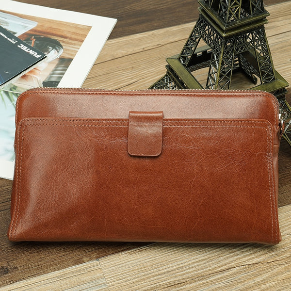Wallet Male Genuine Leather Men's Wallets for Credit Card Holder Clutch Male bags Coin Purse Men Genuine leather 9041