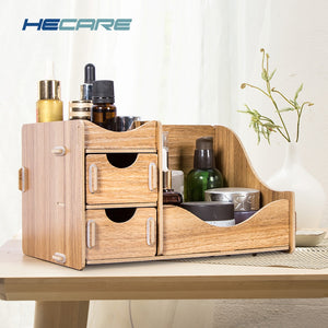 Wooden Box Storage Box for Cosmetics Wood Makeup Organizer for Storing Cosmetics Storage Organizer Drawer Organizer Make Up Box