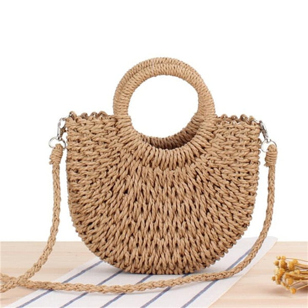 Woven Straw Bag Summer Women Messenger Crossbody Bags