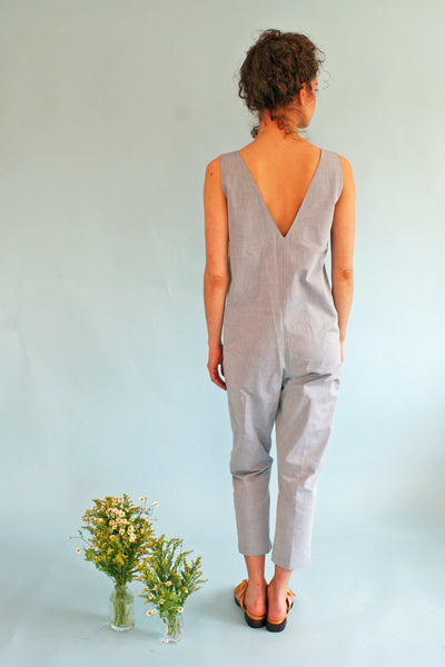 HORSES ATELIER SLEEVELESS PATCH POCKET JUMPSUIT