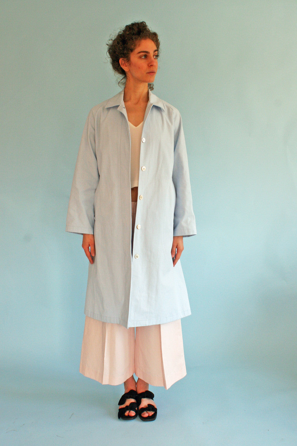 HORSES ATELIER TRENCH PALE BLUE
