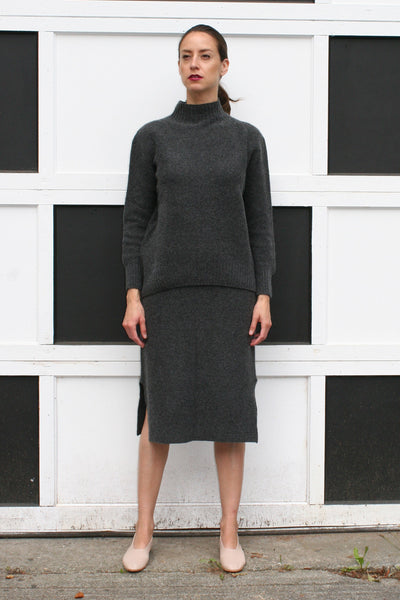 OBJECTS WITHOUT MEANING FITTED SKIRT GREY FW16 VIOLET BOUTIQUE