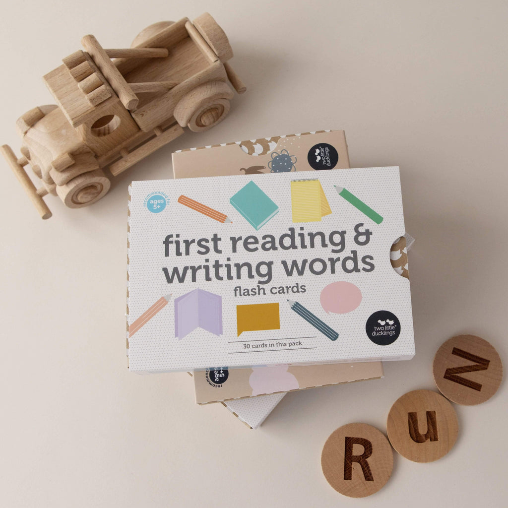 The Curated Parcel First Reading and Writing Word Flash Cards