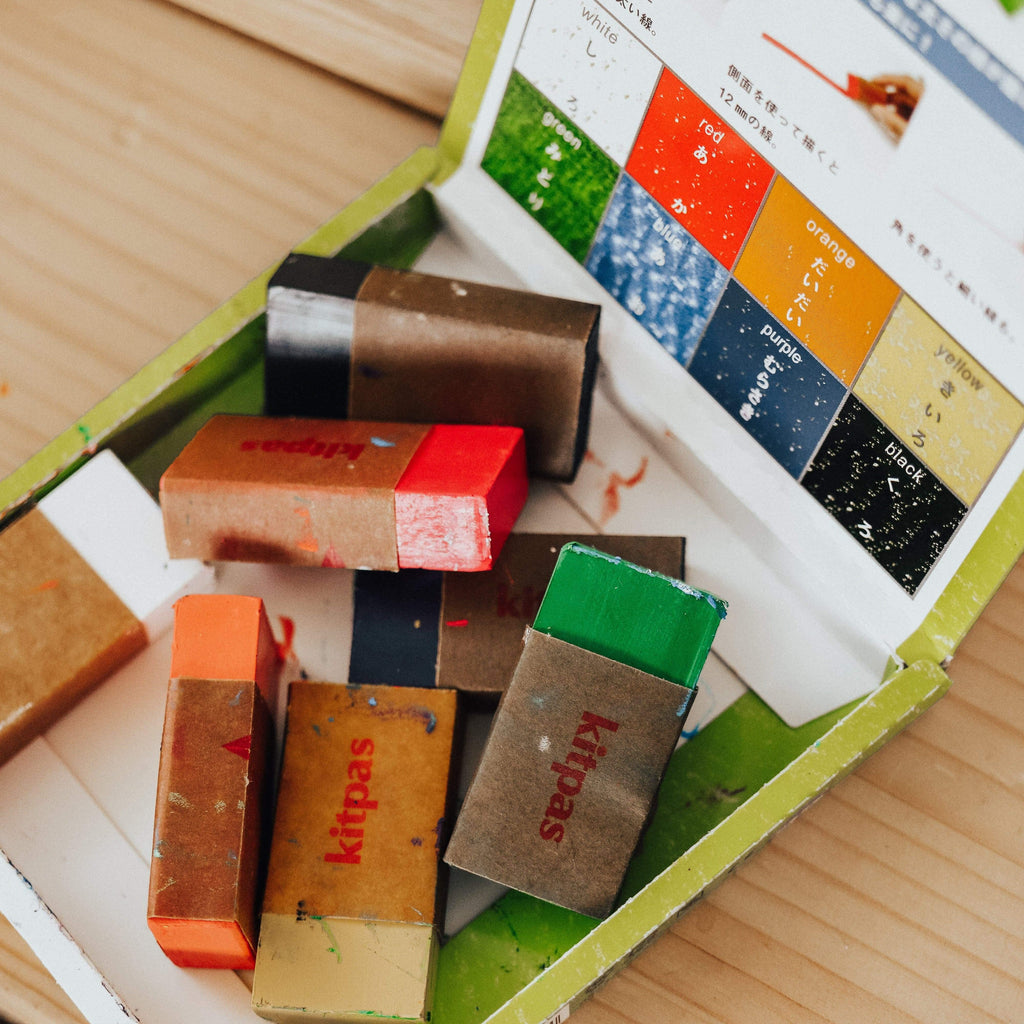 The Curated Parcel Kitpas Block Crayons 8 colours