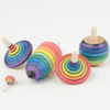 The Curated Parcel Mader  || Spinning Top Learning Set Rainbow
