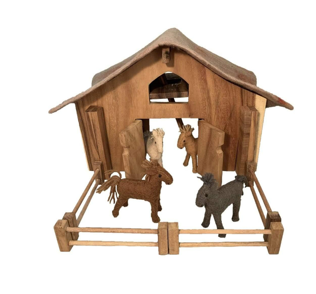 The Curated Parcel Wooden Deluxe Barn Set