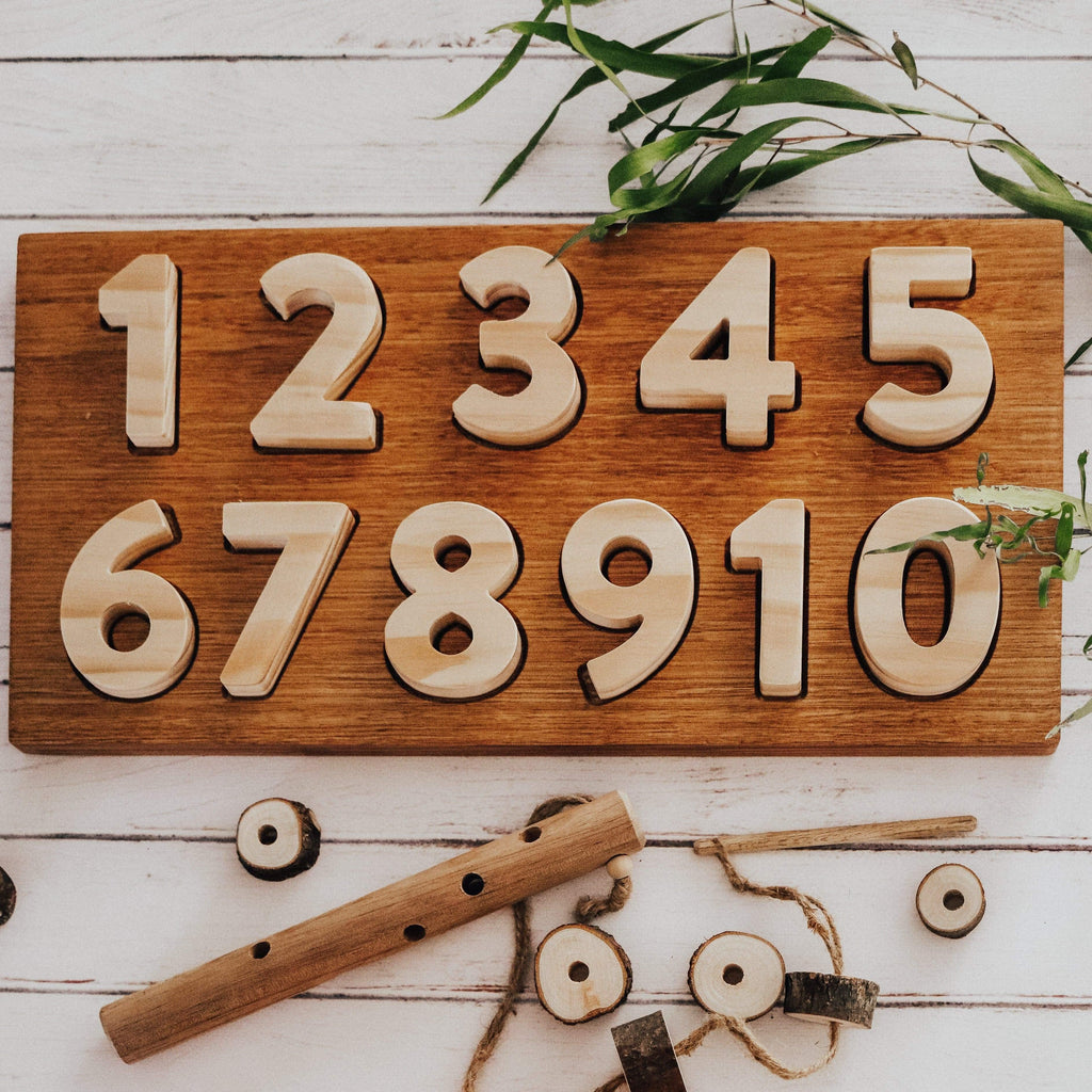 The Curated Parcel Wooden Number Puzzle