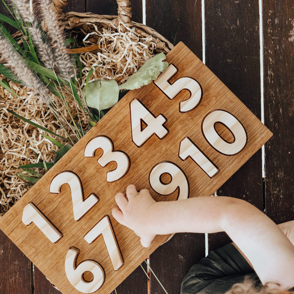 The Curated Parcel Wooden Number Puzzle * Pre-order for End Jan Delivery *