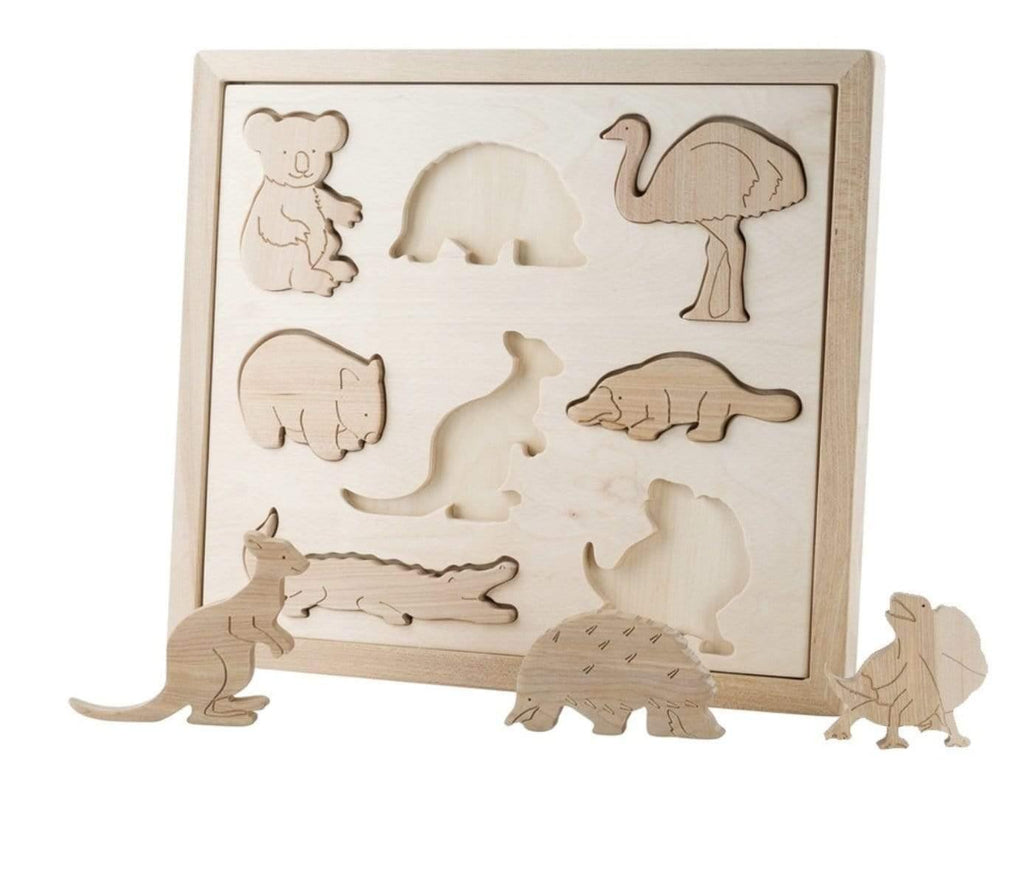 The Curated Parcel Wooden Sorting Puzzle - Animals of Australia ** Estimated Nov Delivery **