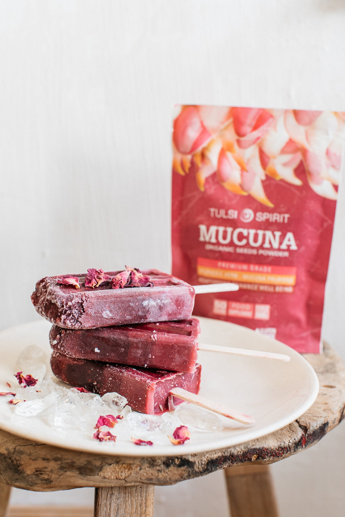 Blackberries-Mucuna ice lollies