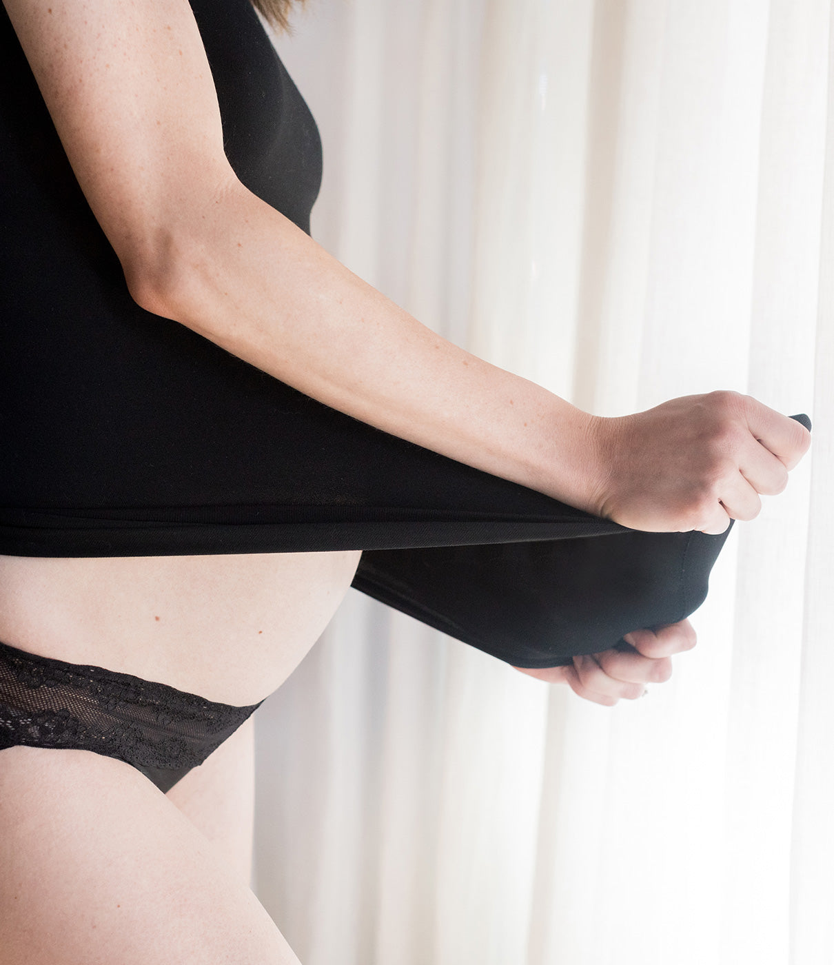What It's Made OfUltra-soft seamless knit expands as your bump grows and then recovers for comfy postpartum wear.