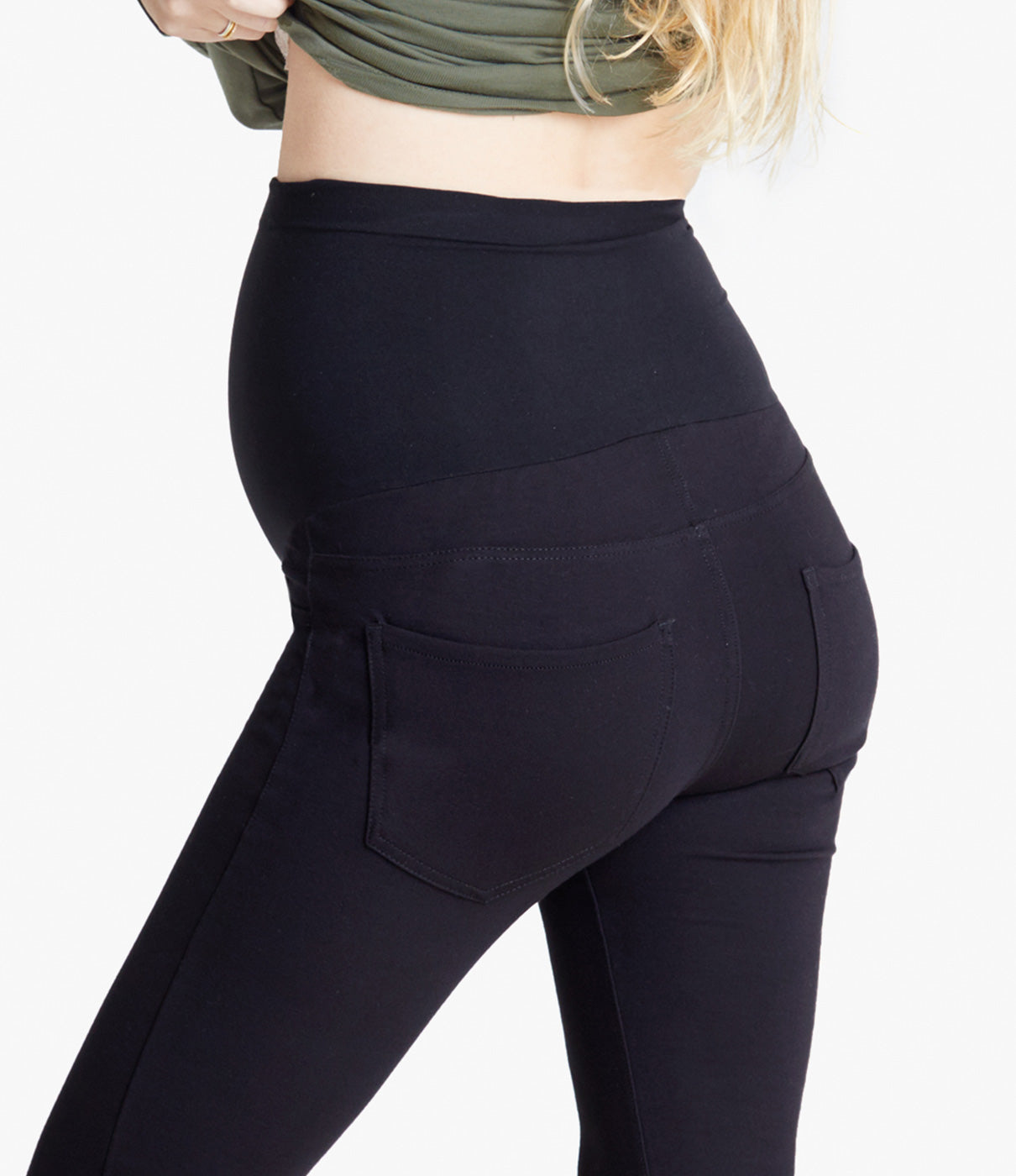 FIT FACTSVersatile, seamless Bellaband® panel can be worn up or folded down.