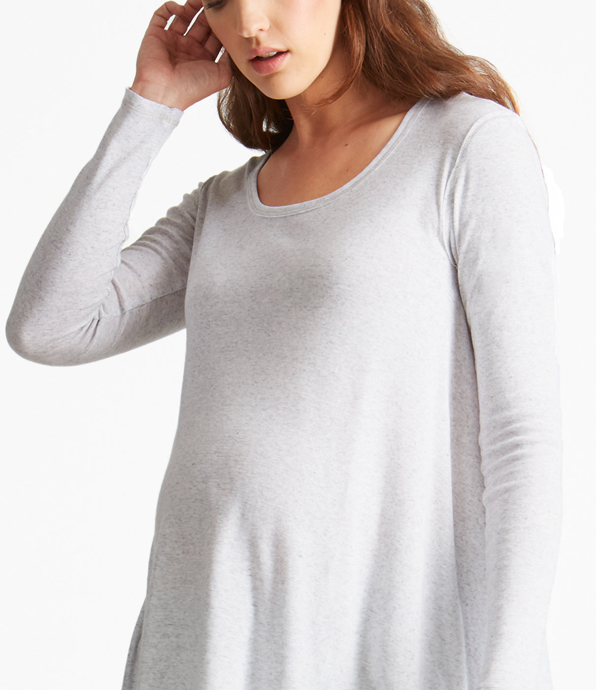 Fashion + FunctionLong, fitted sleeves for max coverage and loose through belly for an ever so comfortable fit.