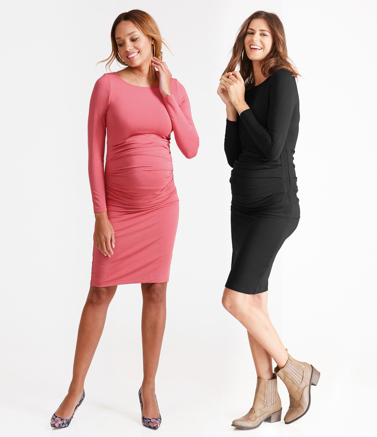 Where to WearThe beauty of this dress? Where it everywhere and anywhere. Just change up your shoe and you've got a great maternity wardrobe staple.